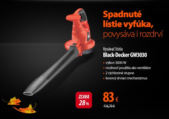 Vysávač lístia Black-Decker GW3030