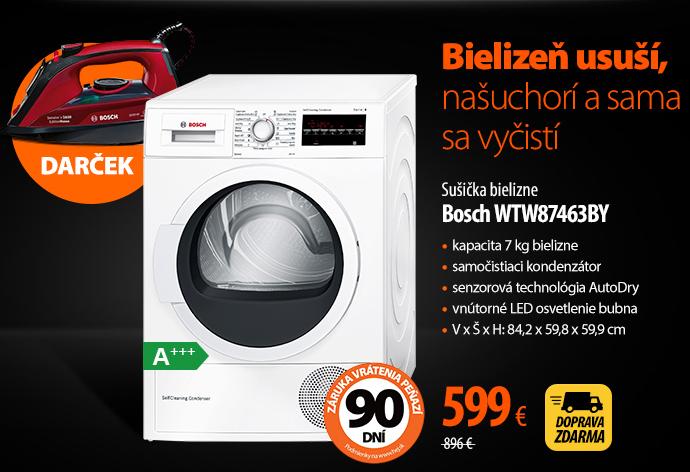 Sušička bielizne Bosch WTW87463BY