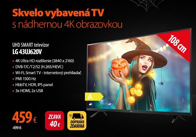 UHD SMART televízor LG 43UJ620V