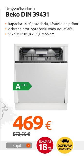 Umývačka riadu Beko DIN 39431