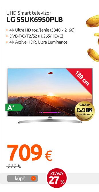 UHD Smart televízor LG 55UK6950PLB