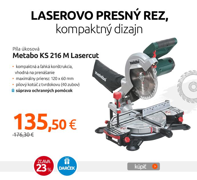 Píla úkosová Metabo KS 216 M Lasercut