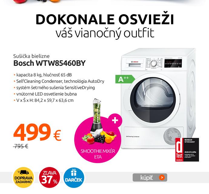 Sušička bielizne Bosch WTW85460BY