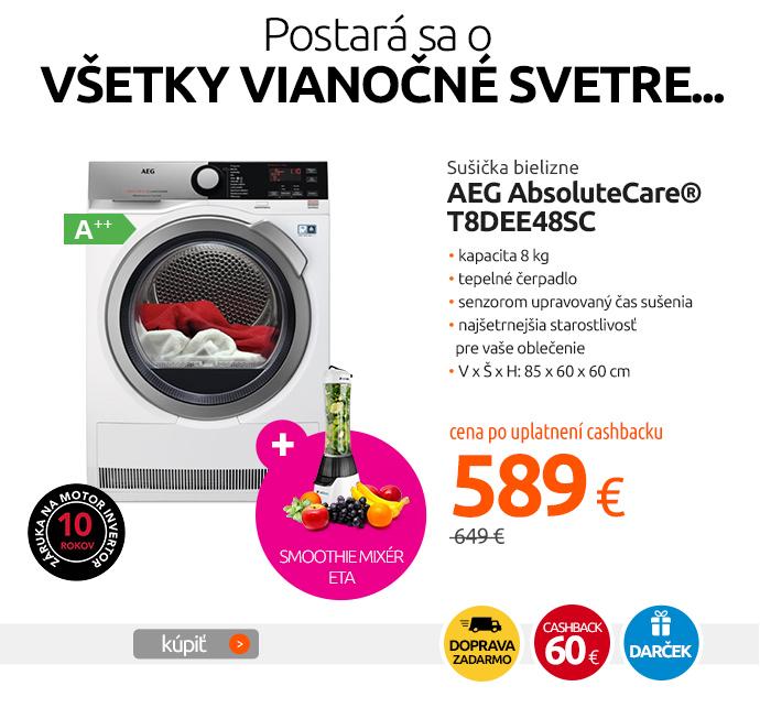 Sušička bielizne AEG AbsoluteCare® T8DEE48SC