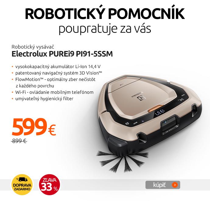 Robotický vysávač Electrolux PUREi9 PI91-5SSM