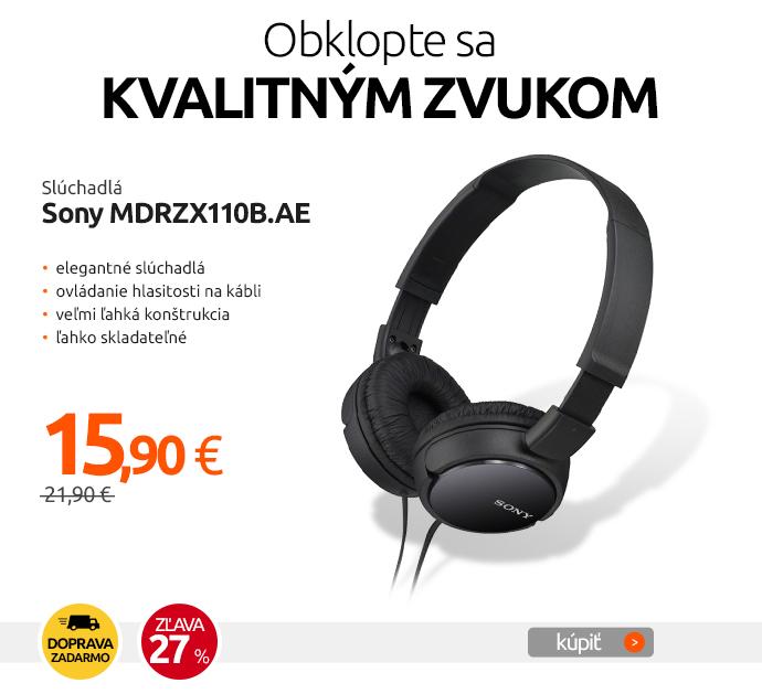 Slúchadlá Sony MDRZX110B.AE
