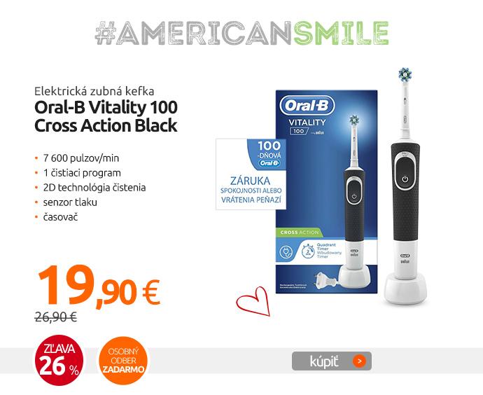Elektrická zubná kefka Oral-B Vitality 100 Cross Action Black