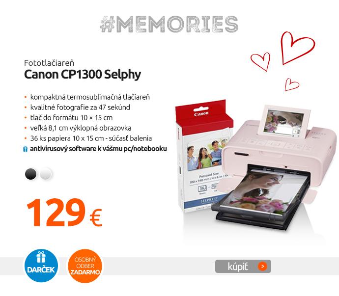 Fototlačiareň Canon CP1300 Selphy