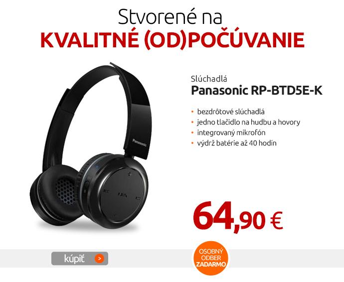 Slúchadlá Panasonic RP-BTD5E-K