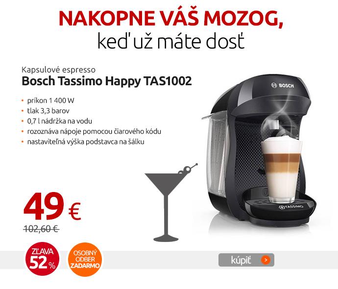 Kapsulové espresso Bosch Tassimo Happy TAS1002