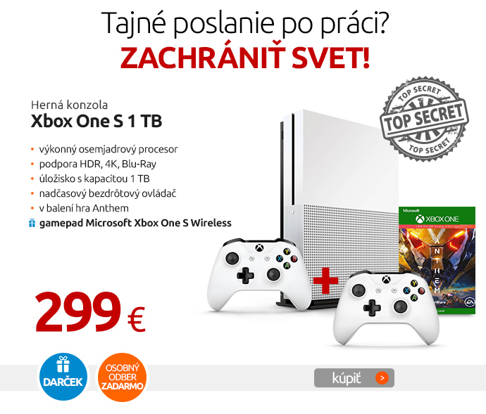 Herná konzola Xbox One S 1 TB