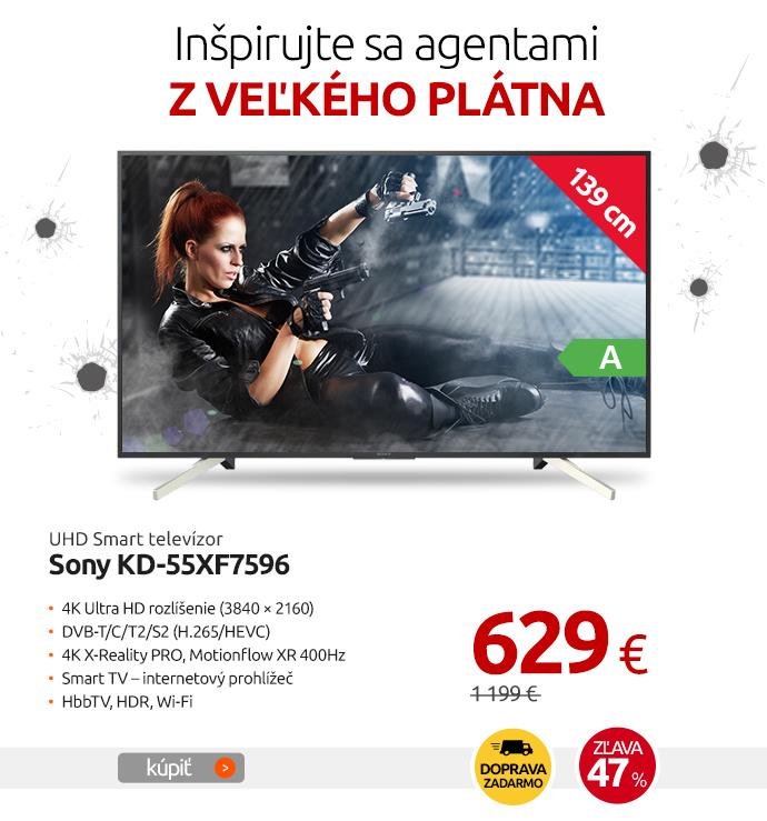 UHD Smart televízor Sony KD-55XF7596