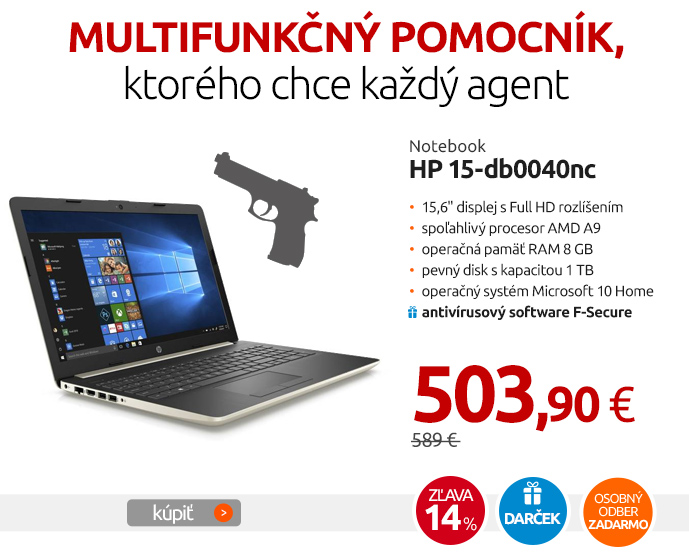 Notebook HP 15-db0040nc