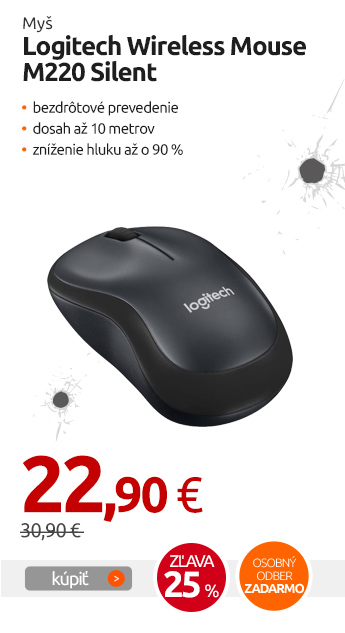Myš Logitech Wireless Mouse M220 Silent