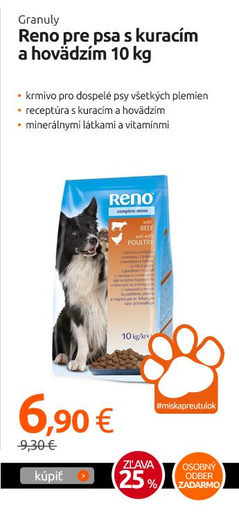 Granuly Reno pre psa s kuracím a hovädzím 10 kg