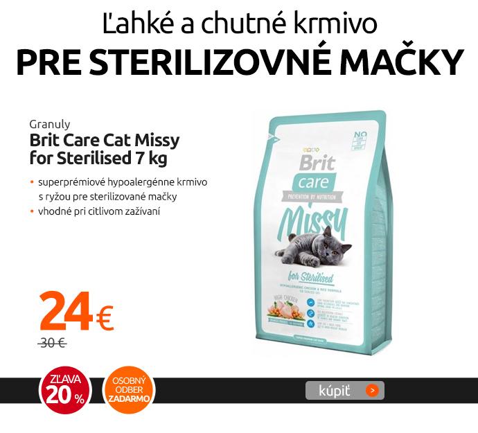 Granuly Brit Care Cat Missy for Sterilised 7 kg