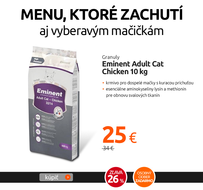 Granuly Eminent Adult Cat Chicken 10 kg