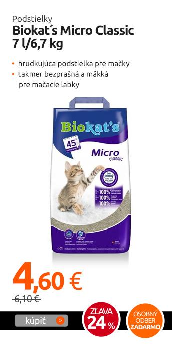 Podstielky Biokat´s Micro Classic 7 l/6,7 kg