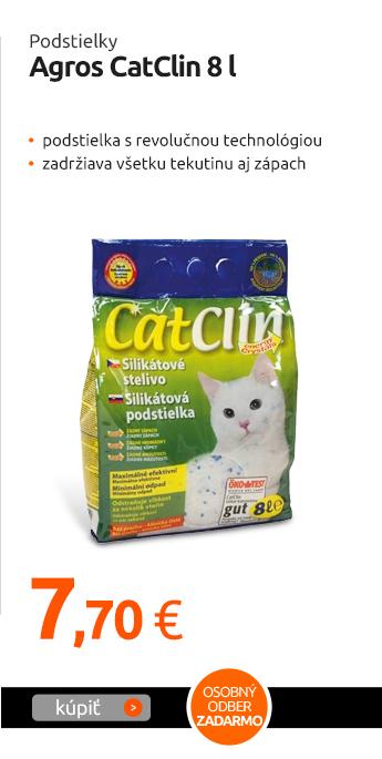 Podstielky Agros CatClin 8 l