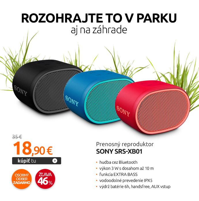 Prenosný reproduktor Sony SRS-XB01