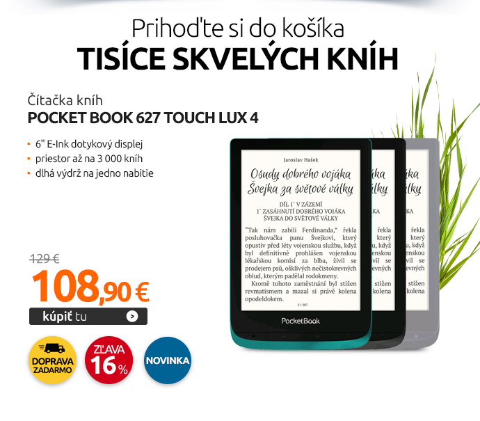 Čítačka kníh Pocket Book 627 Touch Lux 4