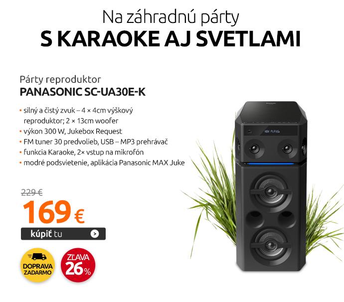Párty reproduktor Panasonic SC-UA30E-K