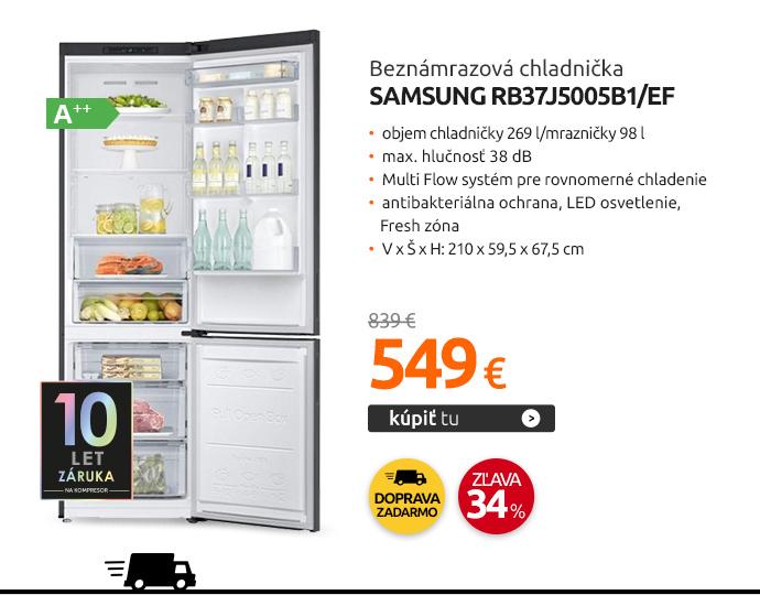 Beznámrazová chladnička Samsung RB37J5005B1/EF