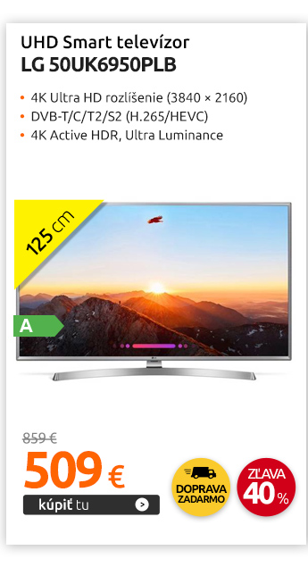 UHD SMART televízor LG 50UK6950PLB