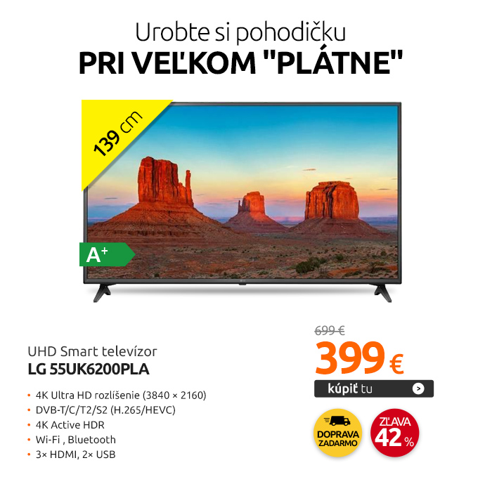 UHD Smart televízor LG 55UK6200PLA