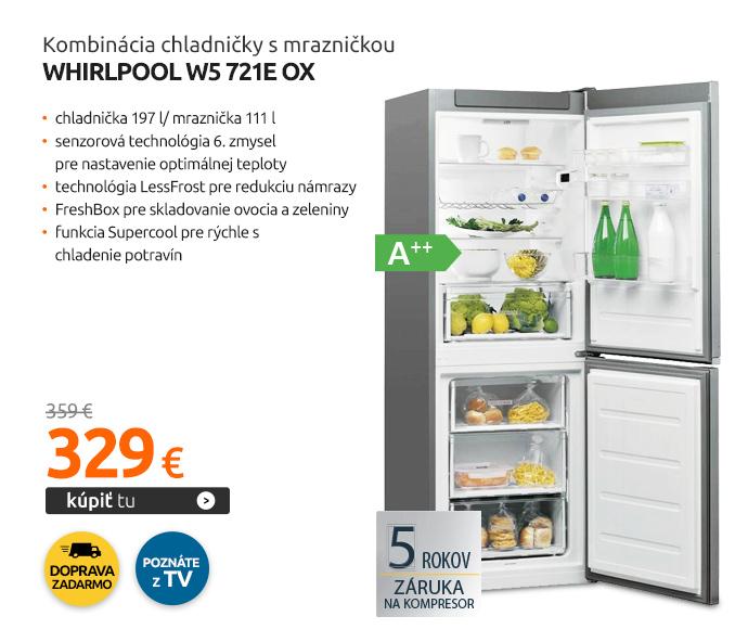 Kombinácia chladničky s mrazničkou Whirlpool W5 721E OX