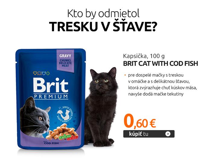 Kapsička Brit Cat with Cod Fish 100 g