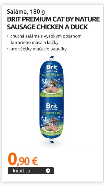 Saláma Brit Premium Cat by Nature Sausage Chicken a Duck 180 g