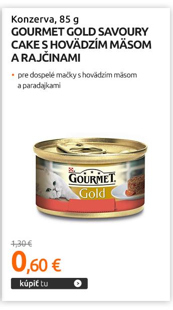 Konzerva Gourmet Gold Savoury Cake s hovädzím mäsom a rajčinami 85 g