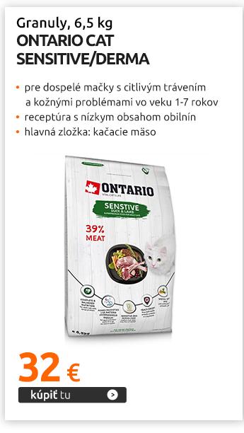 Granuly Ontario Cat Sensitive/Derma 6,5 kg
