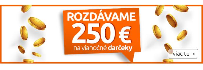 Rozdávame 250 € na vianočné darčeky