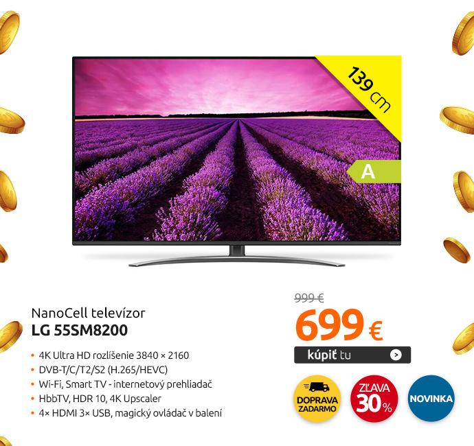 NanoCell televízor LG 55SM8200