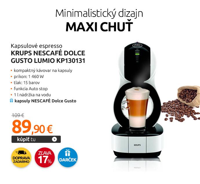 Kapslové espresso Krups NESCAFÉ Dolce Gusto Lumio KP130131