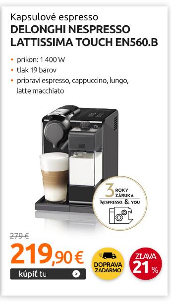 Kapslové espresso DeLonghi Nespresso Lattissima Touch EN560.B