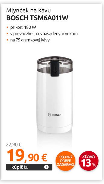 Mlynček na kávu Bosch TSM6A011W