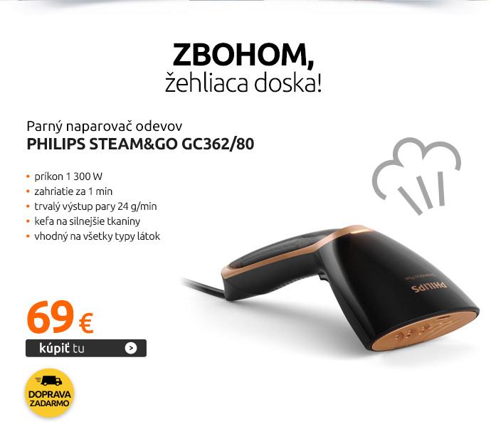 Parný naparovač odevov Philips Steam&Go GC362/80
