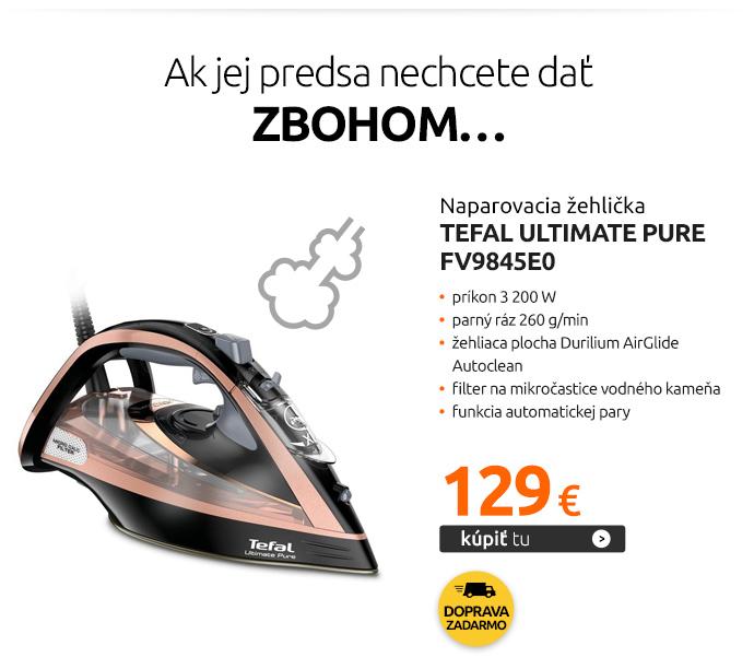 Naparovacia žehlička Tefal Ultimate Pure FV9845E0