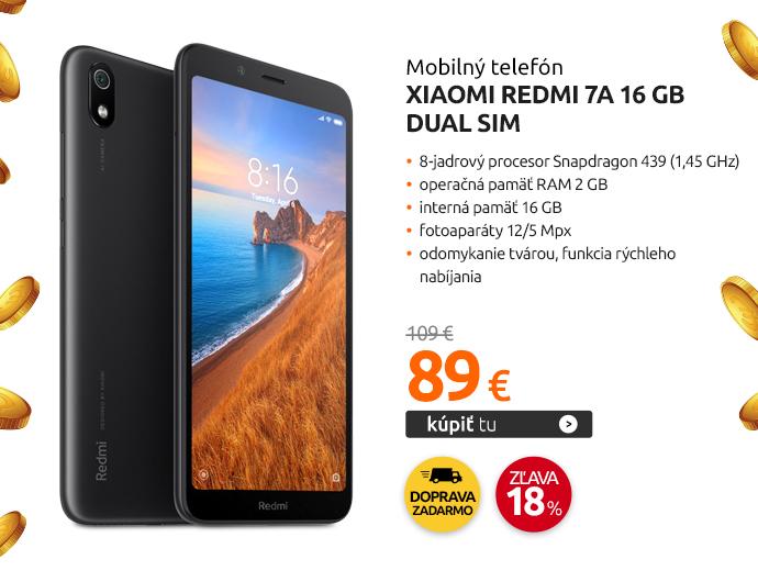 Mobilný telefón Xiaomi Redmi 7A 16 GB Dual SIM