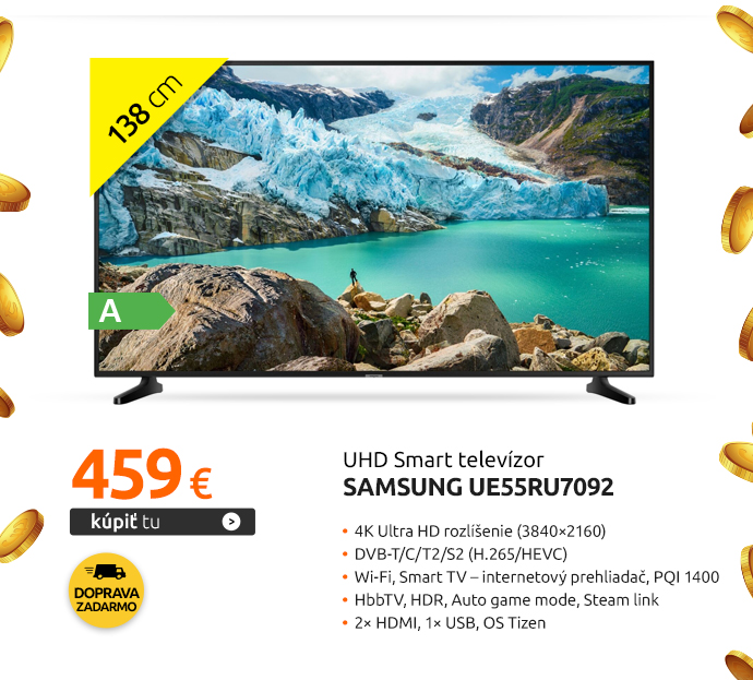 UHD Smart televízor Samsung UE55RU7092