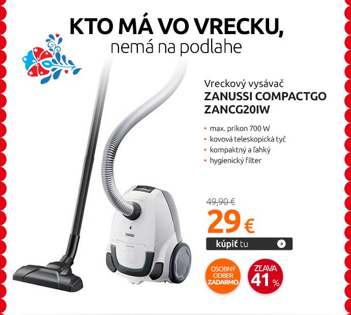 Vreckový vysávač Zanussi CompactGo ZANCG20IW