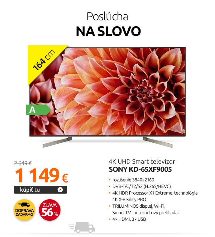 4K UHD Smart televízor Sony KD-65XF9005