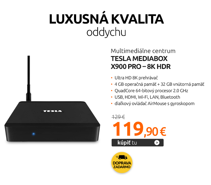 Multimediálne centrum Tesla MediaBox X900 Pro – 8K HDR
