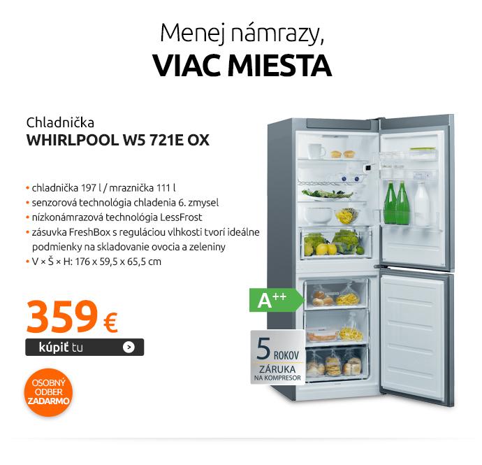 Chladnička Whirlpool W5 721E OX