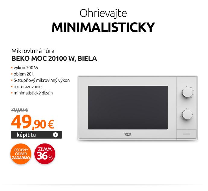 Mikrovlnná rúra Beko MOC 20100 W, biela