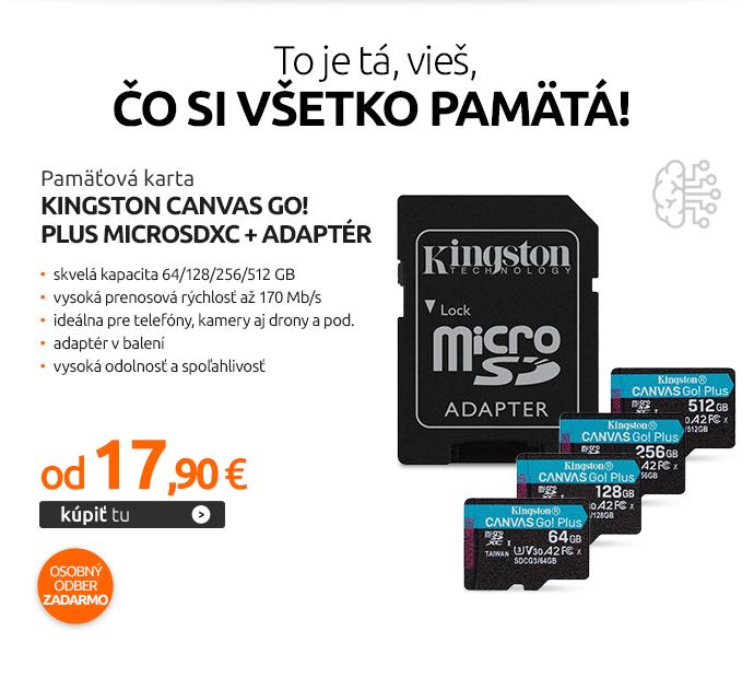 Pamäťová karta Kingston Canvas Go! Plus MicroSDXC + adaptér