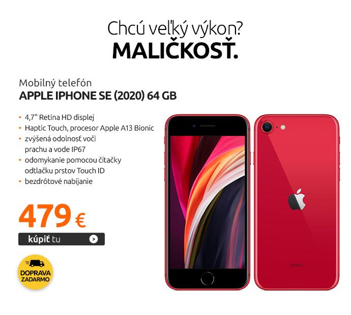 Mobilný telefón Apple iPhone SE (2020) 64 GB, RED
